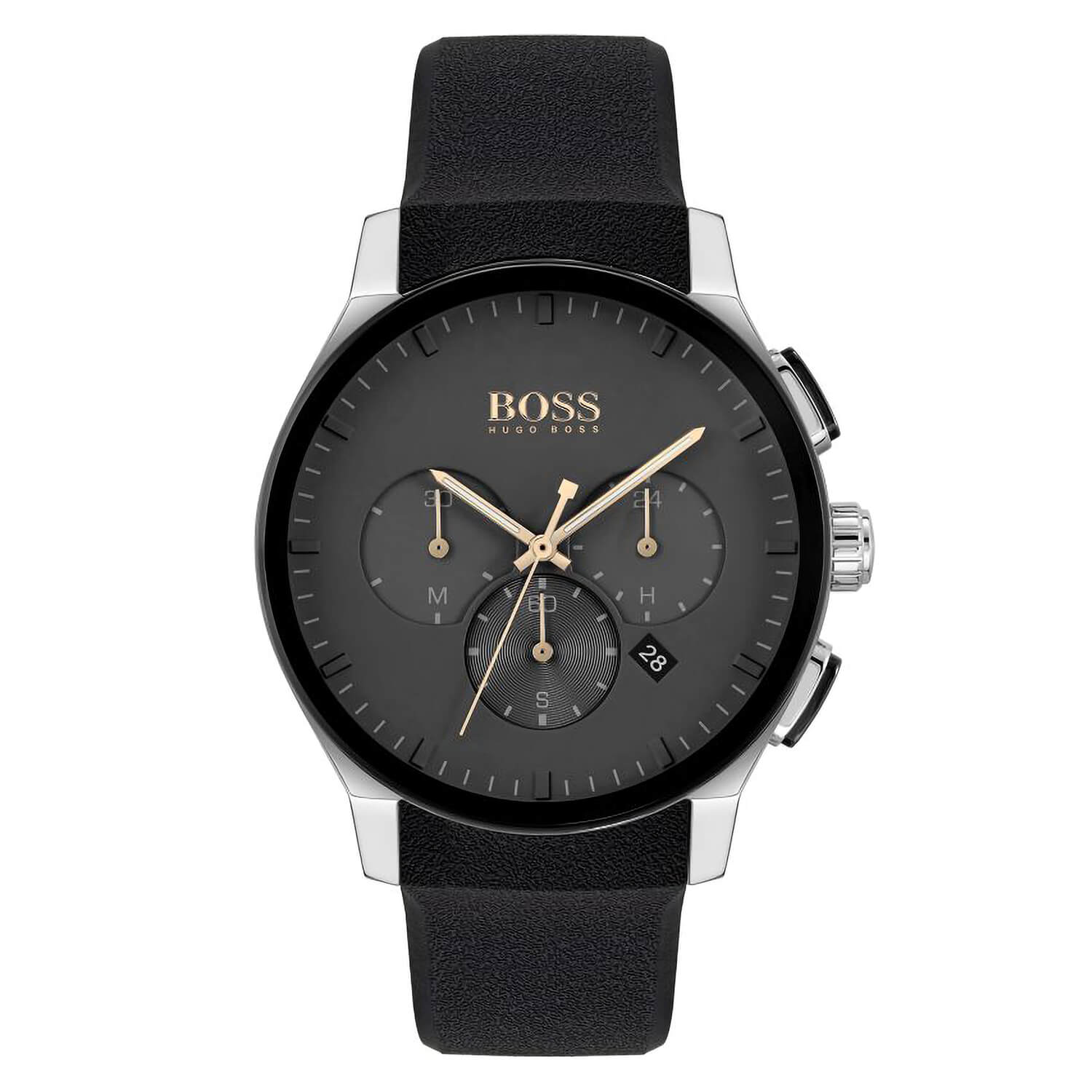 Hugo Boss Peak Black Dial Chronograph 44mm Mens Watch
