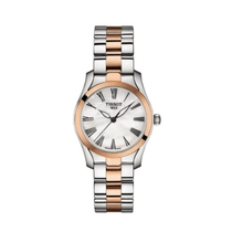 Tissot T-Wave Mother of Pearl Dial Two Tone Bracelet Ladies 30mm Watch