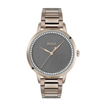 Hugo Boss Twilight Grey Crystal & Rose Gold-Plated Ladies Watch