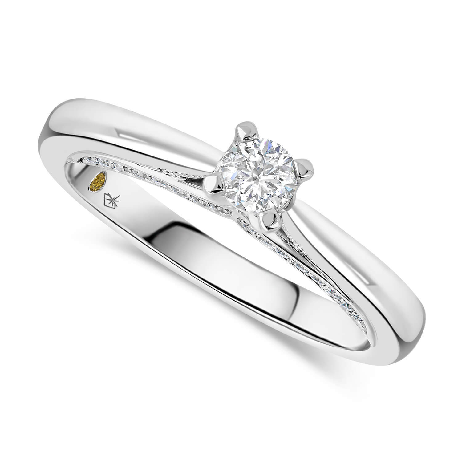 Northern Star 0.37ct Diamond 18ct White Gold Sides Ring