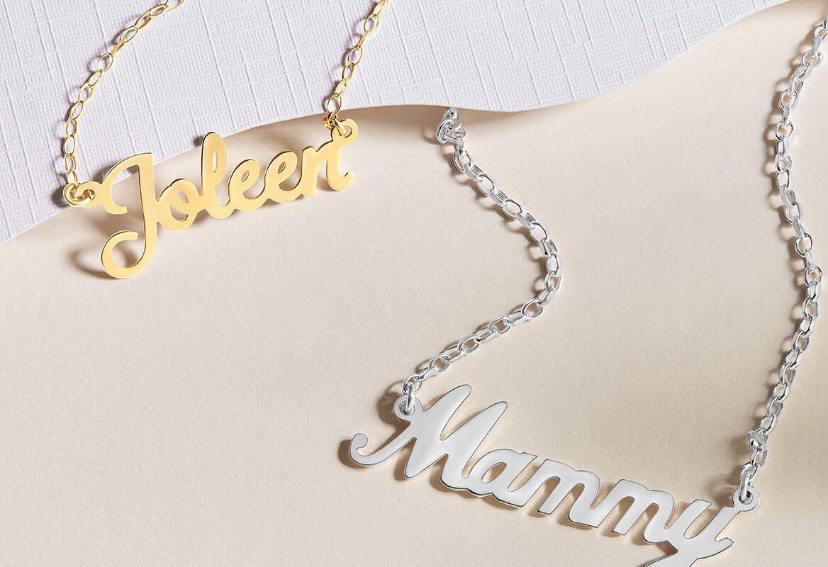 Name Necklace Fields the Jeweller