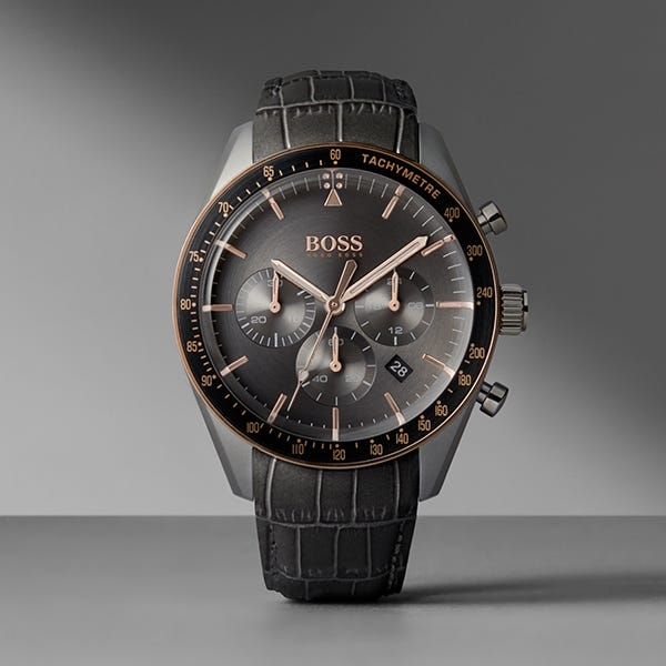 Hugo Boss Leather Strap Watches